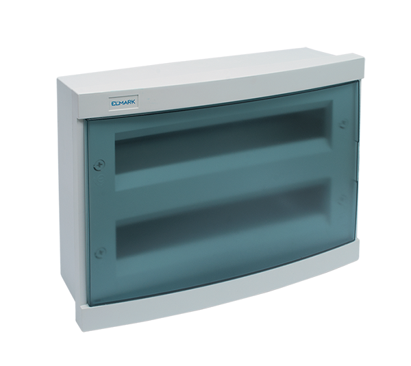 PLASTIC BOX - FLUSH MOUNTING 24 WAY-BLUE DOOR