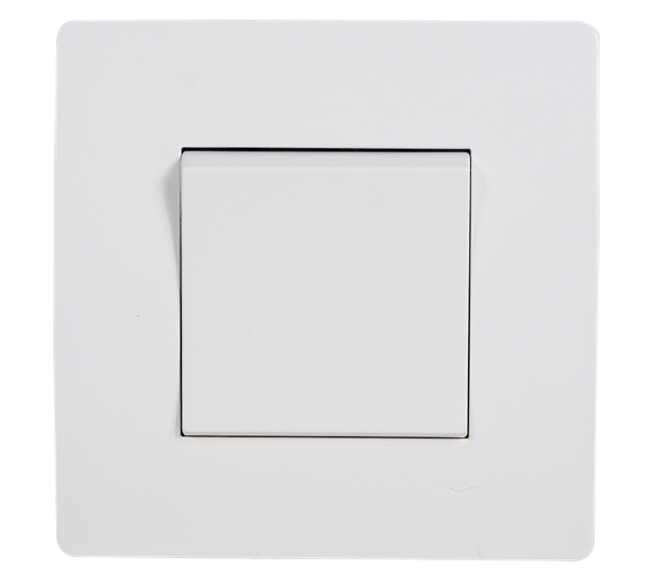EL BASIC TG101 1 BUTTON 1 WAY SWITCH WHITE-OLD