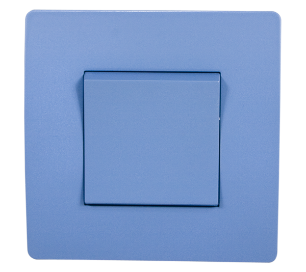 EL BASIC TG115 1 BUTTON CROSS WAY SWITCH BLUE-OLD