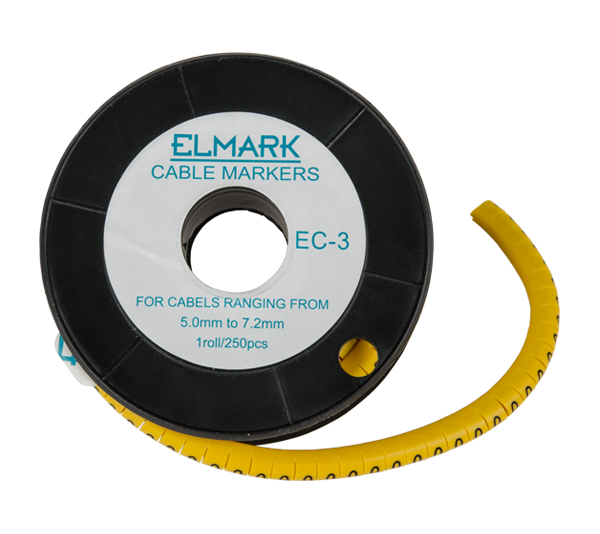 CABLE MARKING TAG EC-3-P /SECTION 5.0-7.2/