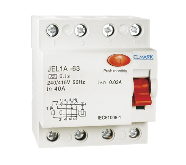 RESIDUAL CURRENT DEVICE JEL1A 4P 40A/300mA